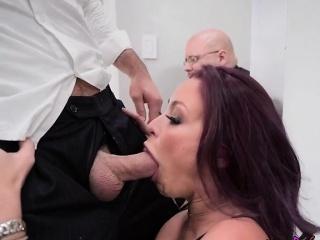 Hot Wife Monique Alexander Blows Husbands Hung Boss