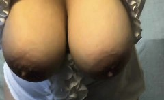 Thick bbw woman shows her big ball boobs