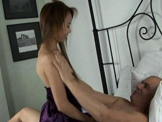 Bony Thai hottie is thrilled by the big white boner