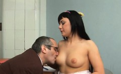 babe is having wild threesome with man and aged teacher