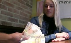 Pretty euro chick fucked and sperm showered inside the
