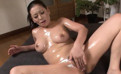 Japanese concupiscent slut gets cunt filled with big dick