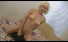 Hot Blonde Chick Rides Sybian