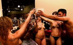 Horny babes have an absolutely wild sex party