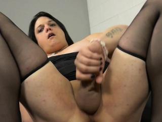 Femboy BBW in private anal affair