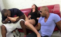 Giselle Leon Gives Footjob To Three Bbcs
