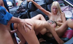 Fucking Two Hot Blondes In The Ass