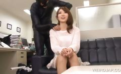 Doll faced asian gets boobs rubbed