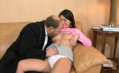 sweet cutie gets a wild drilling from horny aged teacher