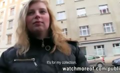 Big tits euro sweetie pulled in public and fucked inside