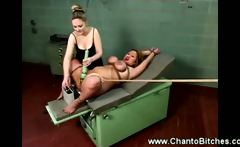 Bound asian tickled then shocked by her dominating master