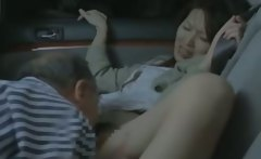 Horny asian milf getting pussy fucked by this old guy