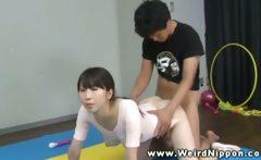 Flexible asian ballerina vagina banged