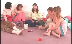 Sexy coeds playing truth or dare sexgames
