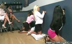 CFNM MILFs visit the gloryhole