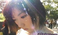 Super hot Japanese girls flashing