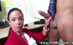 Cfnm groupsex at the office