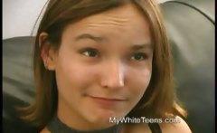 18yr old shy teen kayla showing off her hairy bush