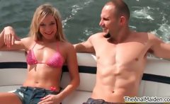 Horny blonde slut Amy Brooke in a sexy