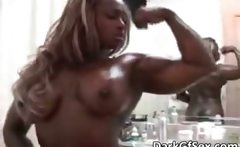 Hot big boobed muscle nasty sexy body