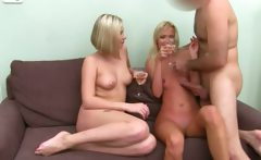 Fake agent fucking with two blond girls