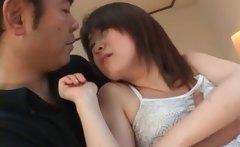 Seduced asian teen shows peachy twat in close-up