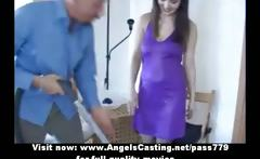 Lovely brunette bride sweet talking with a guy and doing