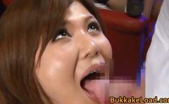Cute babe Pine Shizuku gets cum drenched
