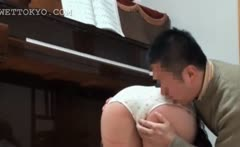 Asian sensitive babe gets her fuck holes teased upskirt