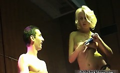 Horny blonde dancing chick loves to give