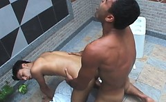 Hot Latino Poolside Fuck