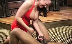 Bizarre mature dominatrix extreme cbt and balls kicking