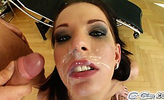 This skinny tall brunette just love to suck cock. We pair
