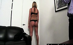 Blonde slut gets fingered and fucked
