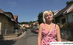 Super hot Alexis gets naked and screwed in public for cash