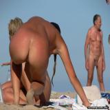 nudist amateur women show off their asses