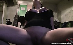 Bitch STOP - Pretty and busty long haired brunette