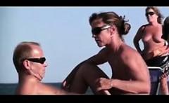 MILF Giving A Blowjob At The Beach