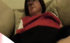 Mature dinner lady shows tight panties upskirt