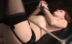 Sex slave peachy snatch machine fucked hardcore in BDSM
