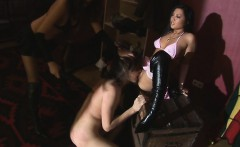 Two gorgeous dommes playing with their boy toy they keep
