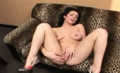 Brunette is pussy fucked and she masturbates