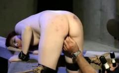 Bound Whipped And Masturbated