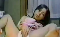 Asian Girl Caught Masturbating By A Spy Cam