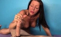 Mature masseuse tugging another happy client