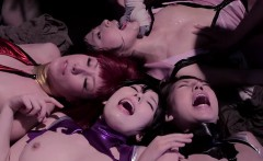 A group of Japanese babes having sex