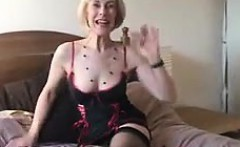 Mature Blonde Woman From Britain Strips
