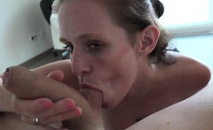 Busty housewife awesome blowjob