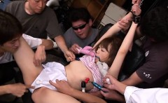 Amazing group sex action for a beautiful Japanese angel