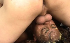 Nurse Takes Big White Cock Deep In Her Throat